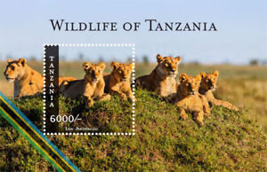 Tanzania 2015 - Wildlife of Tanzania Stamp Souvenir sheet MNH