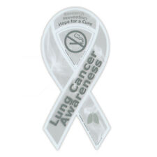 Magnetic Bumper Sticker - Lung Cancer Support Ribbon - Awareness Magnet