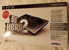 PS3 DJ Hero 2  Sony PlayStation 3 Turntable + Game Bundle