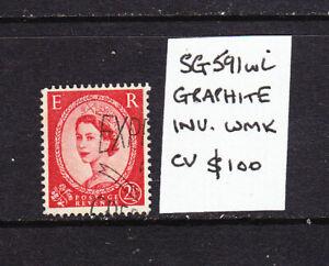 GB. SG 591wi. Graphite, inv wmk,  FU  cv $100  L5670