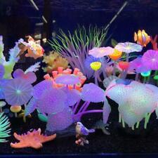 Aquarium Fish Tank Landscape Flowers Glow Simulation Plant Coral Ornament I8M5