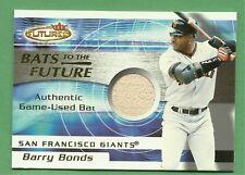 2001 Fleer Futures Barry Bonds bats to the Future bat card San Francisco Giants