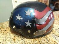 ICONIC USA FLAG AGV HARLEY DAVIDSON Half Helmet DJ HD Sz L Lg Large HALF SHELL
