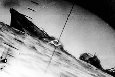New 5x7 World War II Photo: Torpedo Strike Photographed through Periscope