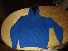 Champion Sweat Shirt Hoodie Blue Pull Over Large