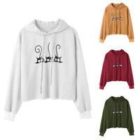 Women Girls Hoodie Sweatshirt Sweater Winter Loose Pullover Jacket Coat Outwear
