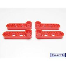 Lego Technik Liftarm flach / dünn 1x4 mit Stud rot 4 Stück »NEU« # 2825