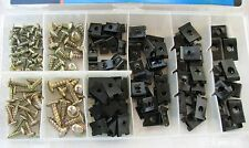 170 PC AUTO BODY PANEL CLIP ASSORTMENT / FENDER CLIPS WITH SCREWS