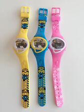Boy Kid Child Girl Minions Frozen Digital rubber Silicone Band Wrist Watch her