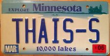 Minnesota vanity THAI S license plate THAIS THAISS Thailand Asia Bangkok Buddha