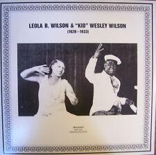 Leola B Wilson & Kid Wesley Wilson 1928-1933 Blues Coots Grant~Eddie Lang NM