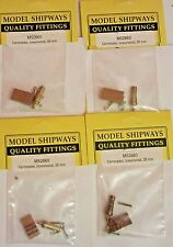 """Model Ship Accessories Fittings Carronade Brass Wood Carriage 13/16"""" 20mm Lot"""