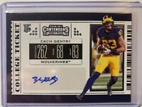 2019 Panini Contenders Draft Picks Zach Gentry College Ticket Auto Rookie Card