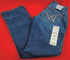 Womens Wrangler Q-BABY WRQ25BR Mid Rise Boot Cut Stretch Jeans Size 0 x 34