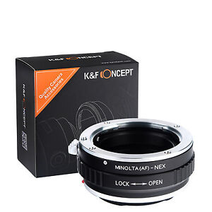 K&F Concept adapter for Minolta AF mount lens to Sony E mount NEX a5000 A7II A7R