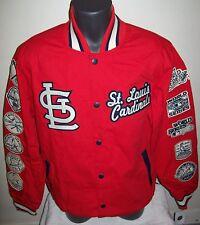 ST. LOUIS CARDINALS WORLD SERIES CHAMPIONS Varsity Cotton Jacket  M L XL