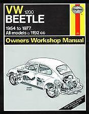Haynes Workshop Manual VW Beetle Bug 1200 1954-1977 Service & Repair