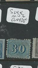 BRAZIL (P1106B) NUMERAL 30R BLUE SC45   MNG