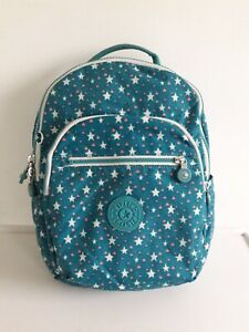 Kipling Small Backpack SEOUL Go Tablet Protection Blue Cool Star NO MONKEY
