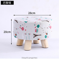 Kids Furniture Wood Round Ottoman Bench Foot Rest Stool/Seat