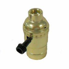 3-way brass-plated lamp socket with large hole 1/4 IPS   TR-28