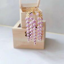 Wisteria Kanzashi Hairpin Japanese Tassels Hair Stick for Kimono Sa He