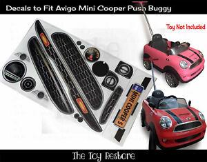 The Toy Restore Replacement Stickers Fits Avigo Mini Cooper Push Buggy Full Set