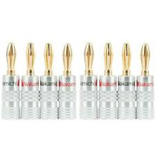8 x High Quality Genuine Gold Plated Amplifier Nakamichi Speaker Banana Plugs