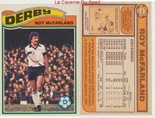 125 ROY McFARLAND # ENGLAND DERBY COUNTY.FC CARD PREMIER LEAGUE TOPPS 1978