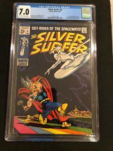 CGC 7.0 Silver Surfer #4 MEGA KEY 1st Silver Surfer vs. Thor Battle HIGH GRADE!