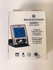 MARATHON CL030023 Travel Alarm Clock Calendar Temperature NIB