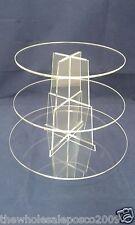 Tasse Gâteau Présentoir 3 Niveaux Acrylique Transparent Perspex Plastique