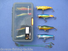 SAVAGE GEAR LURE BOX 4 TOP PERCH PREY PLUGS WIRE TRACES PIKE BASS FISHING KIT C1