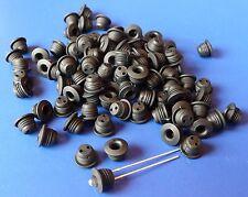100 Stück LED-FASSUNG Montageringe für 3mm in Neopren-Gummi                  3SC