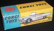 CORGI 215 FORD thunderbird-open Sports vuoto repro box