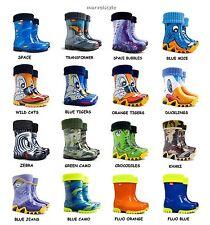 BOYS KIDS CHILDREN WELLINGTON BOOTS WELLIES RAINY BOOTS UK size 3-2.5 /EU 20-35