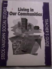 Steck Vaughn Social Studies Living in our community Level C TG ISBN# 0817265589
