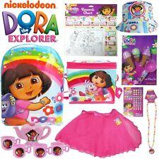 Dora the Explorer Showbag Backpack tea set hat necklace tutu skirt rewards chart