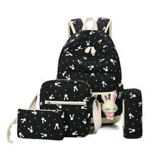 3Pcs Women Casual Backpack Girl School Shoulder Bag Rucksack Travel Bags Satchel