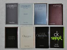 Men`s Designer Brand Calvin Klein Cologne Samples Lot of 8 Eau de Toilette