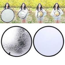 2 in 1 55-60cm Light Mulit Collapsible Disc Photography Reflector Silver/White