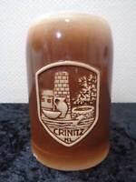 DDR Cerámica Gres Jarra de Cerveza-Crinitz-Vintage-Recuerdo / Recuerdo