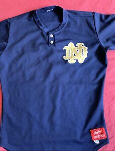 VINTAGE NCAA GAME USED COLLEGE BASEBALL JERSEY Notre Dame Irish Fighting Size 44