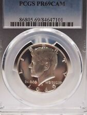 1969-S US Kennedy Silver Half Dollar Proof 50C - PCGS PR69  #7101