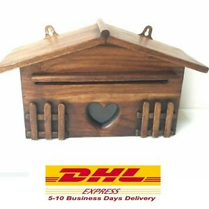 Mail Box Wall Mount With Post Lock Wood Teak Wooden Letters Posts Boxes