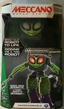 Meccano Micronoid Switch, Robot Building Kit Green New programmable Dances Walks