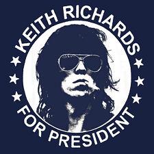 Keith Richards for President T Shirt The Rolling stones legend BlackSheepShirts