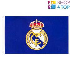 REAL MADRID CF FLAG LARGE BLUE  OFFICIAL FOOTBALL SOCCER CLUB NEW