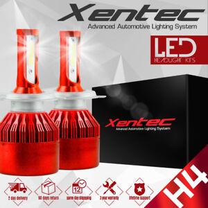 H4 COB HB2 9003 200W 20000LM LED Headlight Kit Hi/Lo Power Bulbs 6500K
