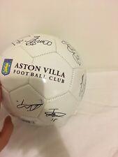 Aston Villa Footbal club memorabilia ball Signed by a current team2018.not print